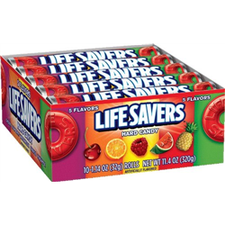 Lifesavers Hard Candy 5 Flavour Rolls 32g