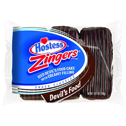 Hostess Zingers Iced Devils Food Cake 3ct 108g