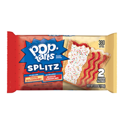 POP Tarts Splitz Frosted Strawberry & Drizzled Cheesecake (100g)