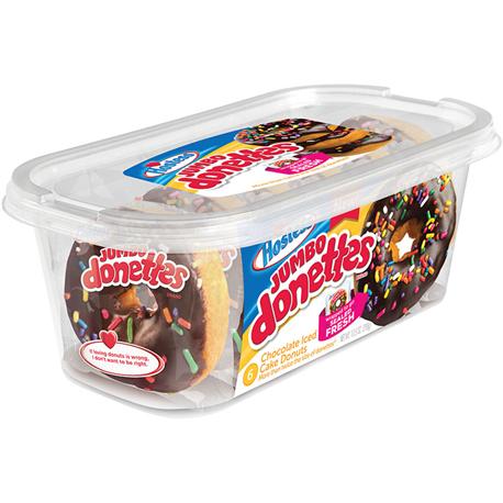 Hostess Jumbo Chocolate Iced Donettes 6ct (298g)