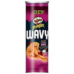 Pringles Wavy Sweet & Tangy BBQ (137g)