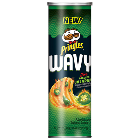 Pringles Wavy Fire Roasted Jalapeno (137g)
