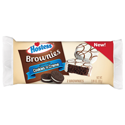 Hostess Brownies Cookies & Creme 2ct 82g