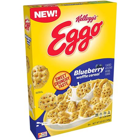 Kellogg's Eggo Blueberry Waffle Cereal (249g)