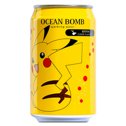 Ocean Bomb Pokemon Pikachu Cider Flavour Sparkling Water (330ml)