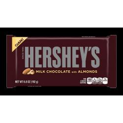 Hershey's Milk Chocolate Whole almond Giant bar 198g